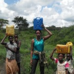 Winfred carrying water